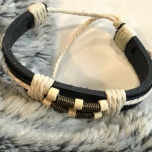 Other - Handmade leather adjustable bracelet